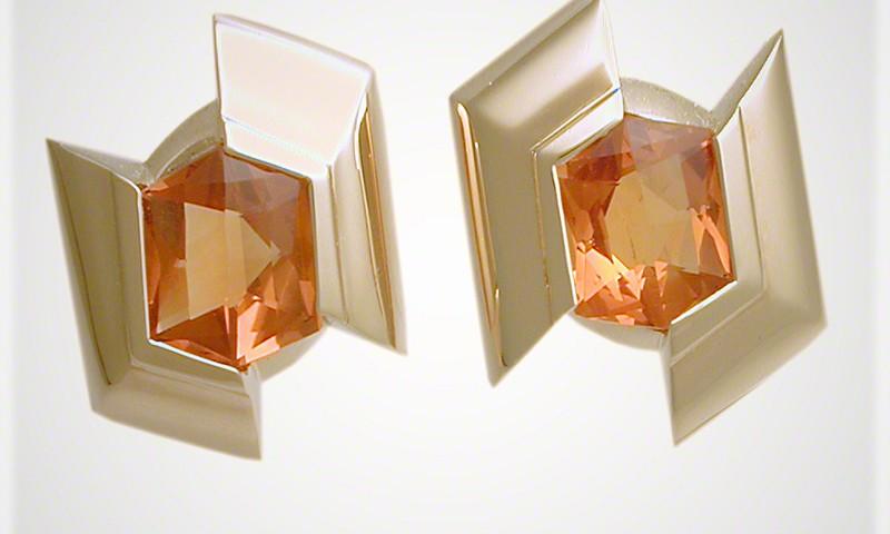 Sliced Hexagon Earrings