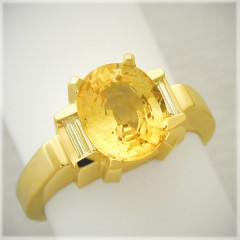 Updated Classic Yellow Sapphire Ring
