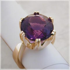 Six Prong Amethyst Ring