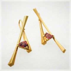 Garnet Sticks Earrings