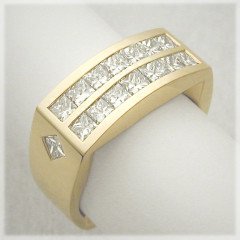 Albert  Squared Diamond Ring