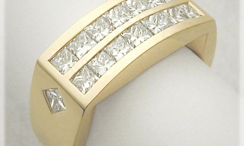 Albert  Squared Diamond Ring