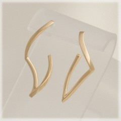 Helix Section Hoop Earrings