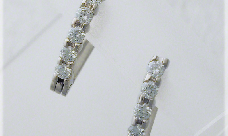Five Stone Shared Prong Earrings