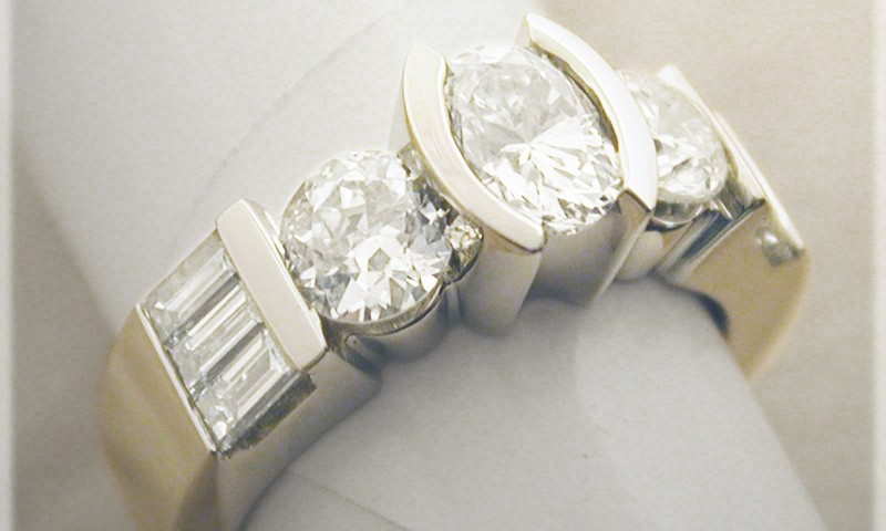 Lauren Diamond Band With Oval, Round, And Baguettes