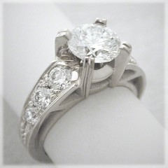 Neoclassic Diamond Engagement Ring