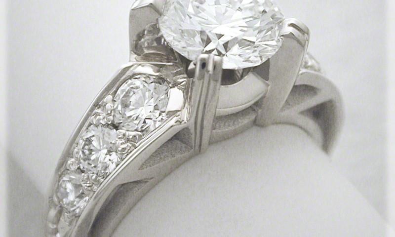Neoclassic Diamond Engagement Ring
